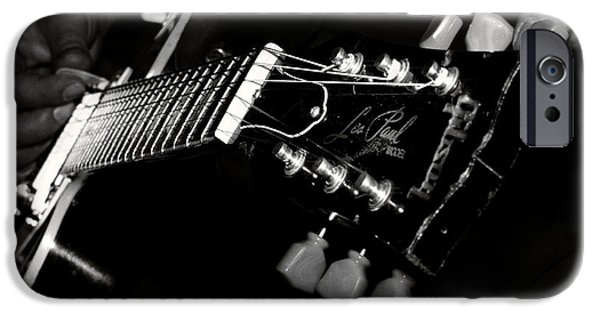 Steel iPhone Cases - Guitarist iPhone Case by Stylianos Kleanthous