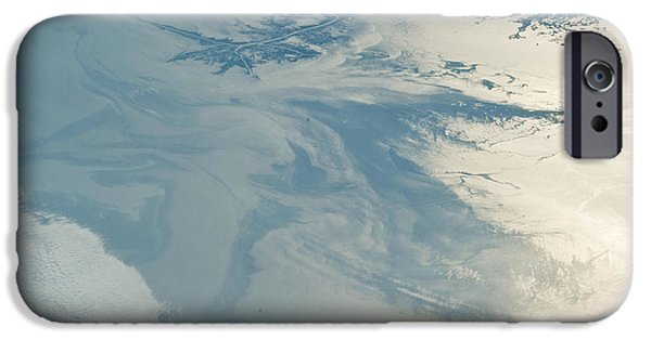 Oil Slick iPhone Cases - Gulf Of Mexico Oil Spill From Space iPhone Case by NASA/Science Source