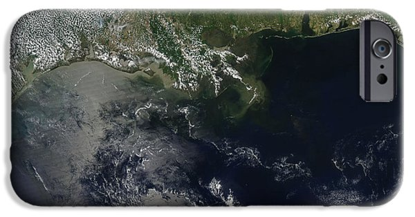 Oil Slick iPhone Cases - Gulf Oil Spill, April 2010 iPhone Case by Nasa