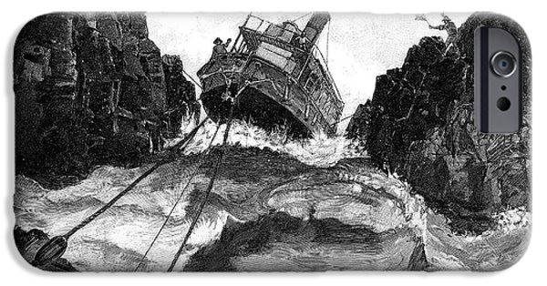 Negotiating iPhone Cases - Gunboat On Nile Rapids, 19th Century iPhone Case by