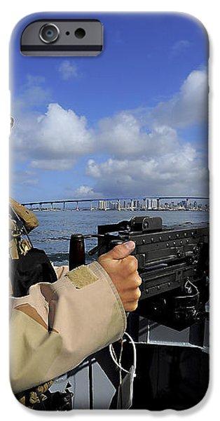 Gunners Mate Mans An M2 Hb .50-caliber iPhone Case by Stocktrek Images