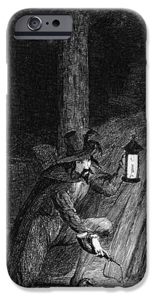King James iPhone Cases - Guy Fawkes, English Soldier Convicted iPhone Case by Photo Researchers