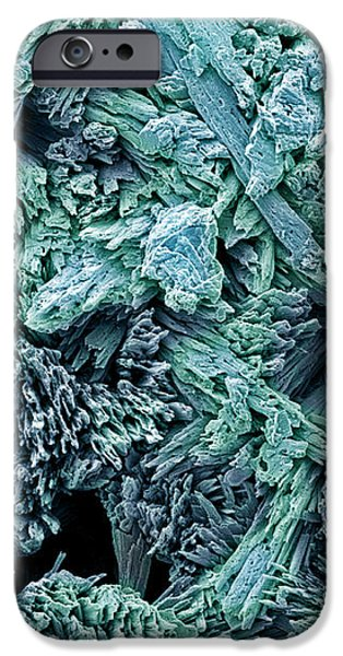 Gypsum Crystals, Sem iPhone Case by Steve Gschmeissner