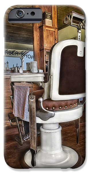H J Barber Shop iPhone Case by Susan Candelario