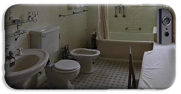 Shower Curtain iPhone Cases - Haas Lilienthal House Victorian Bath - San Francisco iPhone Case by Daniel Hagerman