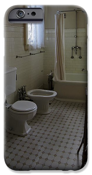 HAAS LILIENTHAL HOUSE VICTORIAN BATH - SAN FRANCISCO iPhone Case by Daniel Hagerman