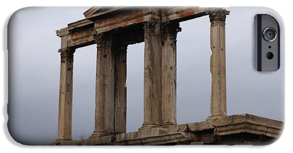 Athens Ruins iPhone Cases - Hadrians Arch Athens iPhone Case by Bob Christopher