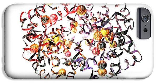 Coenzyme iPhone Cases - Haemoglobin Molecule iPhone Case by Animate4.comscience Photo Libary