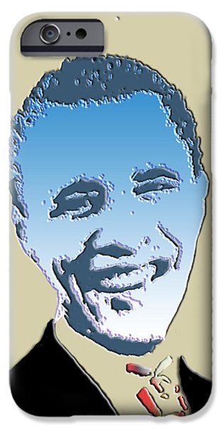 Barack Obama iPhone Cases - Hail To The Chief iPhone Case by Robert Margetts