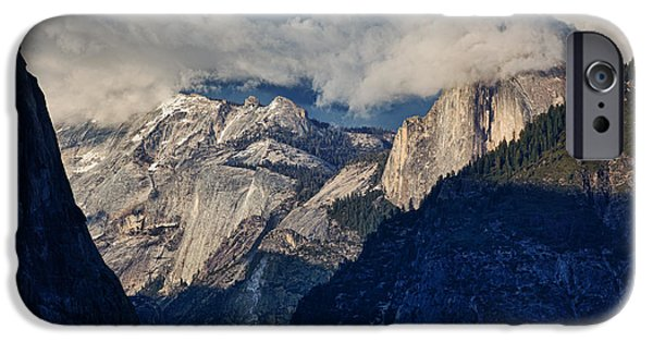 Epic Photographs iPhone Cases - Half Dome In The Clouds iPhone Case by Rick Berk