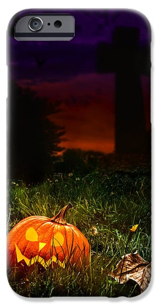 Autumn Photographs iPhone Cases - Halloween Cemetery iPhone Case by Amanda And Christopher Elwell