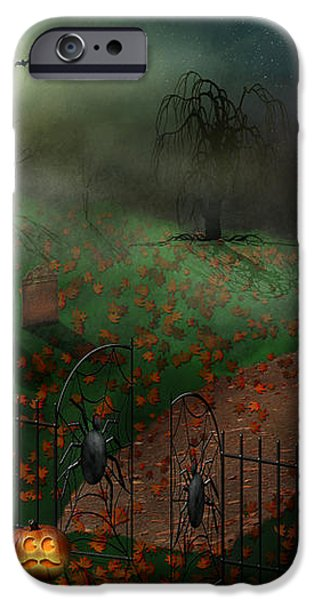 Halloween - One Hallows Eve iPhone Case by Mike Savad