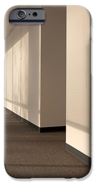 Hallway of an Office Building iPhone Case by Will & Deni McIntyre