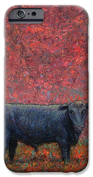 Beef iPhone Cases - Hamburger Sky iPhone Case by James W Johnson
