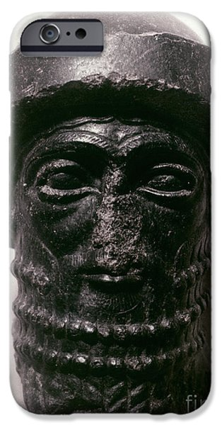 Statue Portrait iPhone Cases - HAMMURABI (d. 1750 B.C.) iPhone Case by Granger