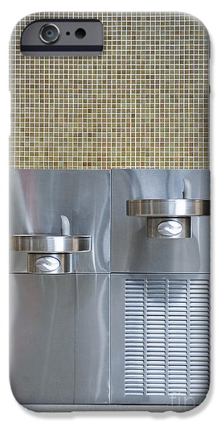 Stainless Steel iPhone Cases - Handicapped Accessible Drinking Fountain iPhone Case by Dave & Les Jacobs