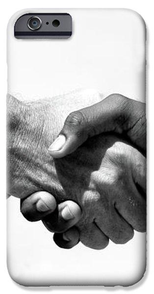 handshake iPhone Case by Michael Ledray