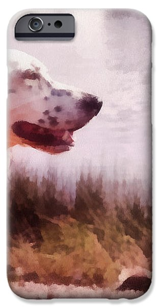 Handsome Hunter. English Setter iPhone Case by Jenny Rainbow
