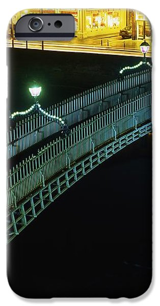 Hapenny Bridge, Dublin City, Co Dublin iPhone Case by The Irish Image Collection