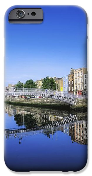 Hapenny Bridge, River Liffey, Dublin iPhone Case by The Irish Image Collection