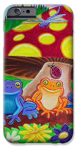 Happy Frog Meadows iPhone Case by Nick Gustafson