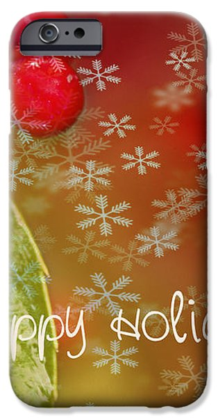 Happy Holidays iPhone Case by Rebecca Cozart