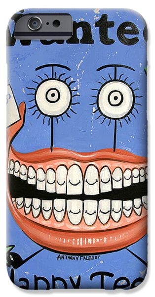 Happy Teeth iPhone Case by Anthony Falbo