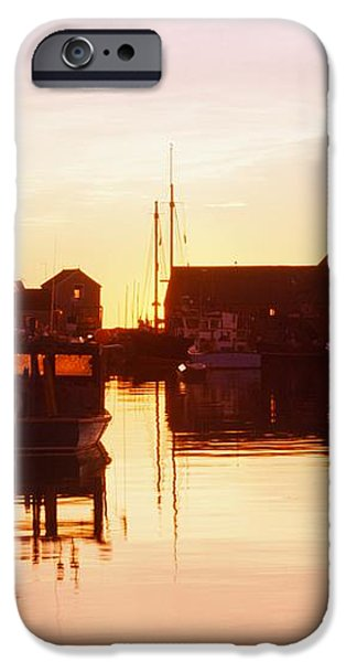 Harbor At Sunrise iPhone Case by Bilderbuch