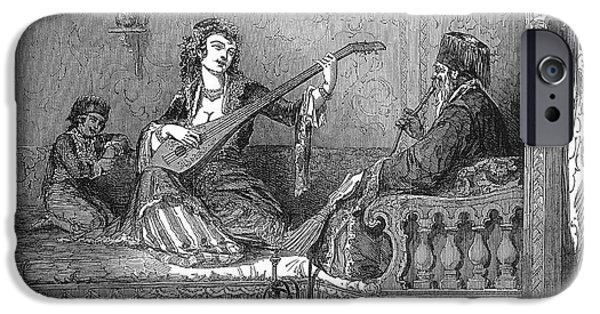1850s iPhone Cases - Harem: Pasha And His Wife iPhone Case by Granger