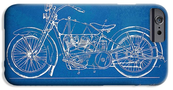 Sectioned iPhone Cases - Harley-Davidson Motorcycle 1928 Patent Artwork iPhone Case by Nikki Marie Smith