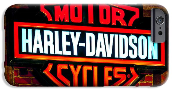 Brand iPhone Cases - Harley Downtown Vegas iPhone Case by Andy Smy