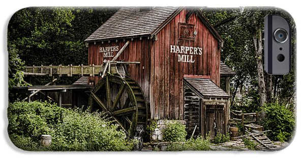 Grist Mill iPhone Cases - Harpers Mill iPhone Case by Heather Applegate