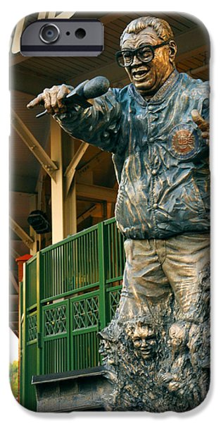 Wrigley Field iPhone Cases - Harry Caray iPhone Case by Anthony Citro