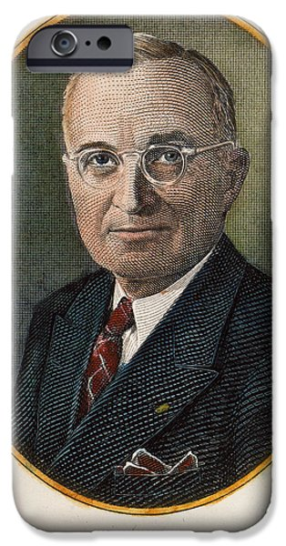 1940s Portraits iPhone Cases - Harry S. Truman (1884-1972) iPhone Case by Granger