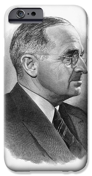 Democratic Party iPhone Cases - Harry S. Truman iPhone Case by Granger