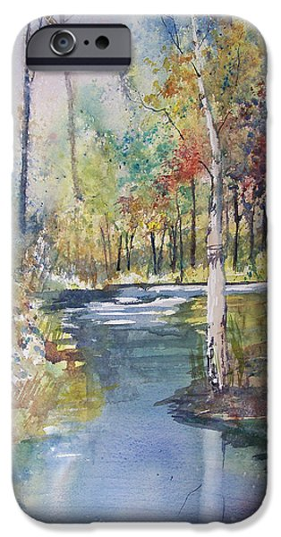Forest Paintings iPhone Cases - Hartman Creek Birches iPhone Case by Ryan Radke