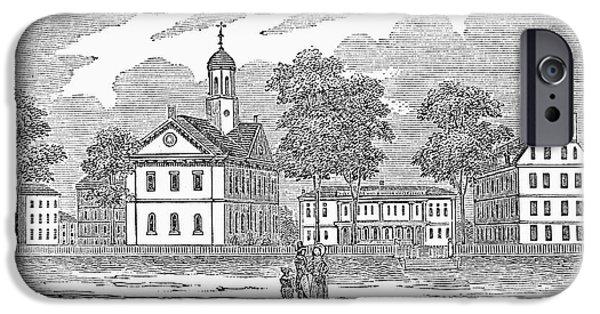 1839 iPhone Cases - Harvard University, 1839 iPhone Case by Granger