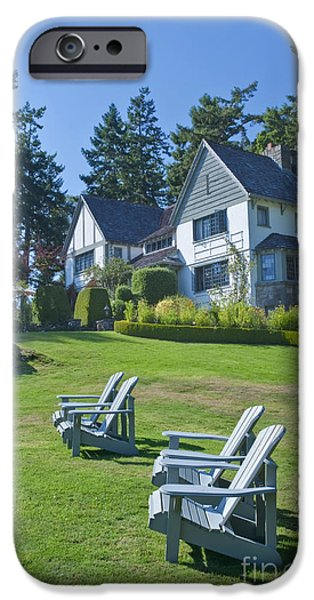 Lawn Chair iPhone Cases - Hastings House Lawn iPhone Case by Rob Tilley