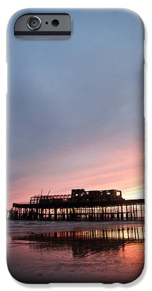 Landscape Poster Photographs iPhone Cases - Hastings Pier After The Fire iPhone Case by Dawn OConnor
