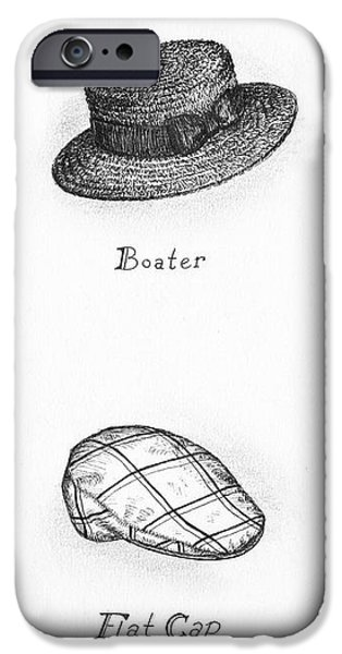 Hats of a Gentleman iPhone Case by Adam Zebediah Joseph
