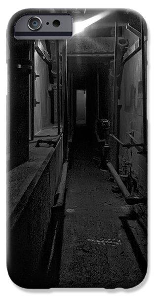 Alcatraz iPhone Cases - Haunted 1946 BATTLE of ALCATRAZ DEATH CHAMBER iPhone Case by Daniel Hagerman