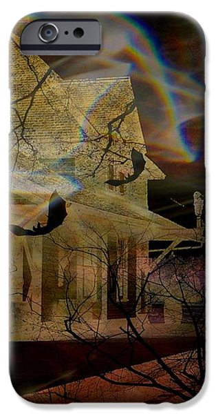 Haunted Evening iPhone Case by Shirley Sirois