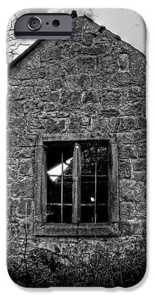 Haunted House in Black and White iPhone Case by Chris Smith