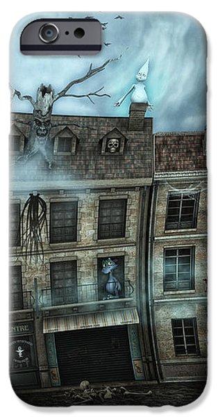 Haunted House iPhone Case by Jutta Maria Pusl