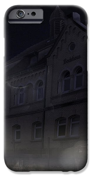haunted house iPhone Case by Nafets Nuarb