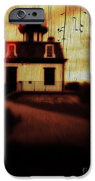 Ghoul iPhone Cases - Haunted Lighthouse iPhone Case by Edward Fielding