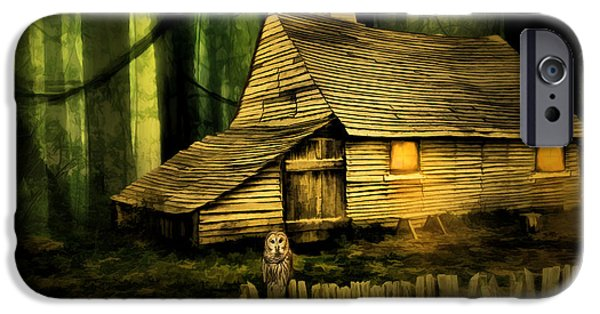 Haunted iPhone Cases - Haunted Shack iPhone Case by Lourry Legarde