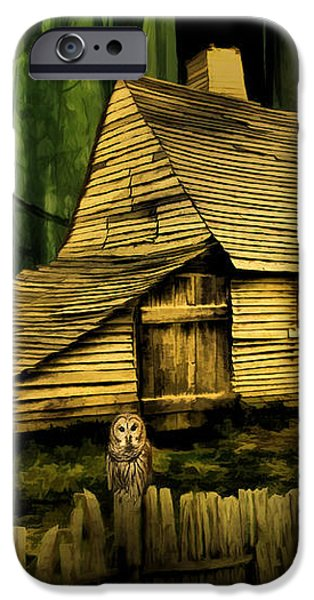 Haunted Shack iPhone Case by Lourry Legarde