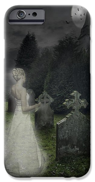 Headstones iPhone Cases - Haunting iPhone Case by Amanda And Christopher Elwell