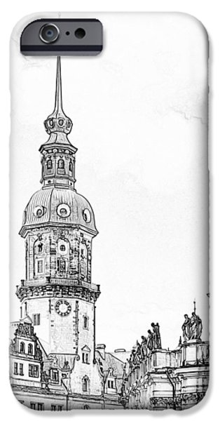Hausmannsturm in Dresden Germany iPhone Case by Christine Till